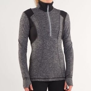 LULULEMON Black & Gray Run Your Heart Out Jacket 4